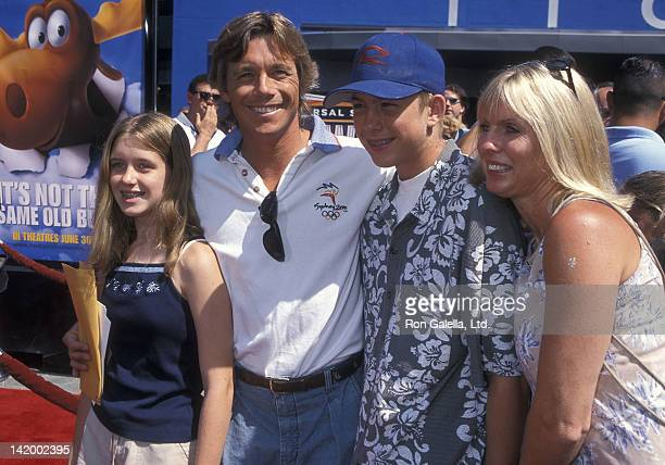 Actor Christopher Atkins wife Lyn Barron daughter Brittney Bomann and son Grant Bomann attend The Adventures of Rocky Bullwinkle Universal City...
