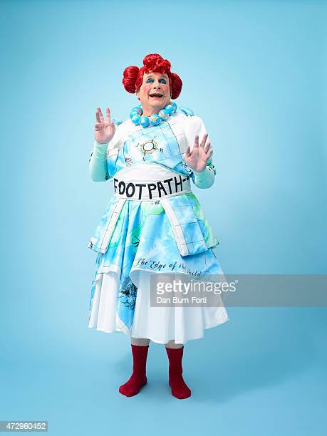 Actor Christopher Biggins dressed in the pantomime character as Mrs Smee in Peter Pan Photographed on December 1 2014 in London England