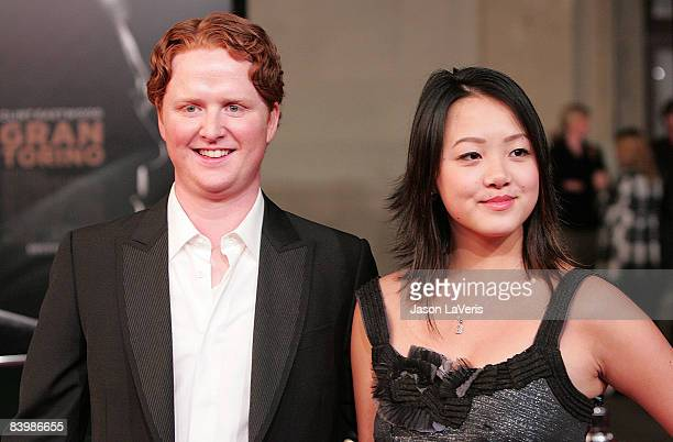 Actor Christopher Carley and actress Ahney Her attend the Los Angeles Premiere of Gran Torino at the Steven J Ross Theater on December 9 2008 in Los...