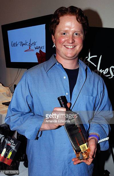 Actor Christopher Carley poses at Little Black Dress Wines at Kari Feinstein Golden Globes Style Lounge held at Zune LA on January 9, 2009 in Los...