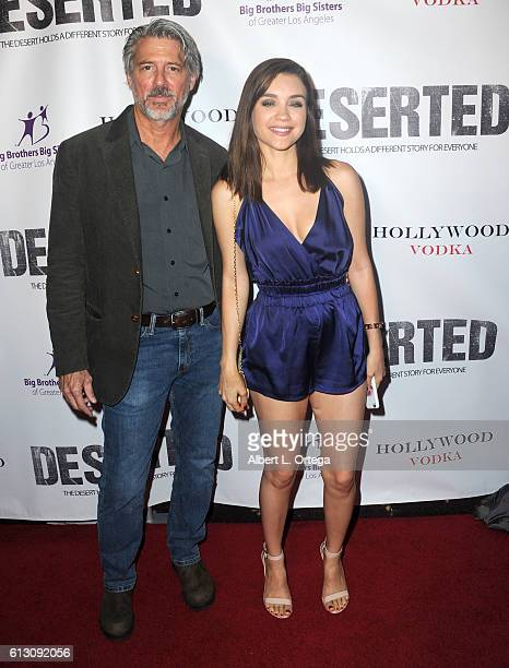 Actor Christopher Cousins and actress Katalina Viteri arrive for the premiere of Winterstone Pictures' 'Deserted' held at Majestic Crest Theatre on...