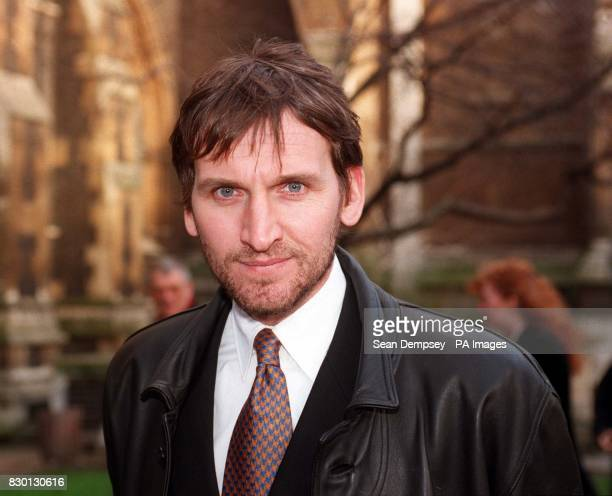 Actor Christopher Eccleston arrives at Southwark Cathedral London for the memorial service of Derek Bentley who was hanged for murdering a policeman...