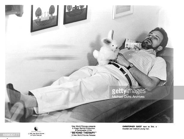Actor Christopher Guest on set of the movie Beyond Therapy circa 1987