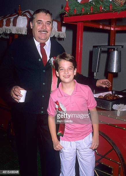 Actor Christopher Hewett and actor Brice Beckham attend the 57th Annual Hollywood Christmas Parade on November 27, 1988 at KTLA Studios in Hollywood,...