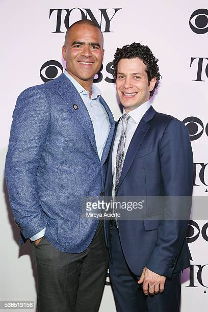 Actor Christopher Jackson and director Thomas Kail attend the 2016 Tony Honors Cocktail Party at The Diamond Horseshoe on June 6 2016 in New York City