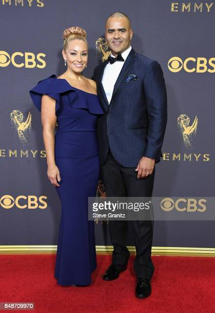Actor Christopher Jackson and Veronica Jackson attend the 69th Annual Primetime Emmy Awards at Microsoft Theater on September 17 2017 in Los Angeles...