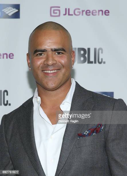Actor Christopher Jackson attend the 2017 Public Theater Gala Hair to Hamilton at Delacorte Theater on June 5 2017 in New York City
