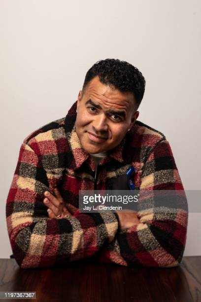Actor Christopher Jackson from 'We Are Freestyle Love Supreme' is photographed in the LA Times Studio at the Sundance Film Festival on January 27...