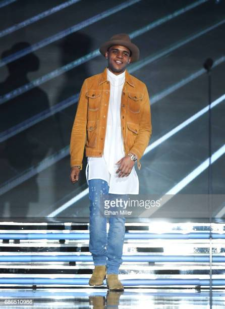 Actor Christopher Jordan Wallace walks onstage during the 2017 Billboard Music Awards at TMobile Arena on May 21 2017 in Las Vegas Nevada