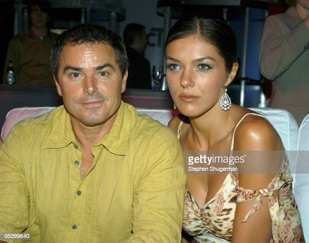 Actor Christopher Knight and model Adrianne Curry attend The Hollywood Reporter 75th Anniversary Gala at Astra West at The Pacific Design Center on...