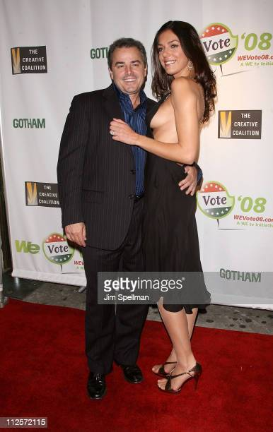 Actor Christopher Knight and wife Adrianne Curry arrives at the Launch of WE Vote '08 at Tenjune on November 28 2007 in New York City