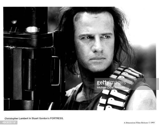 Actor Christopher Lambert in a scene from the movie 'Fortress' circa 1992