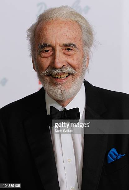 Actor Christopher Lee attends the Dreamball 2010 charity gala at the Grand Hyatt hotel on September 23 2010 in Berlin Germany