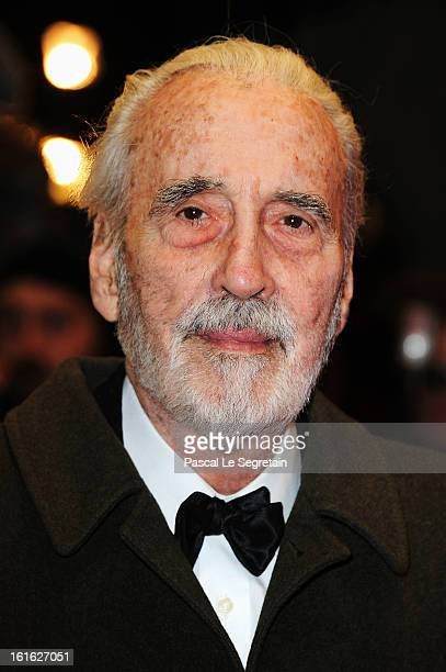Actor Christopher Lee attends the 'Night Train to Lisbon' Premiere during the 63rd Berlinale International Film Festival at the Berlinale Palast on...