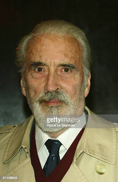 Actor Christopher Lee attends the opening ceremony of the 15th Dinard Festival Of British Film October 7 2004 in Dinard France The event is a...