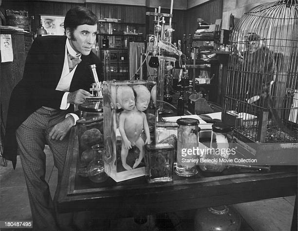 Actor Christopher Lee in a scene from the movie 'I Monster' 1971