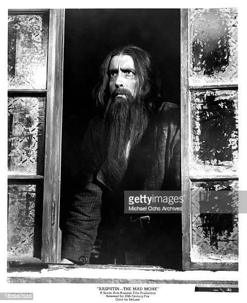 Actor Christopher Lee on set of the 20th CenturyFox movie Rasputin The Mad Monk in 1966