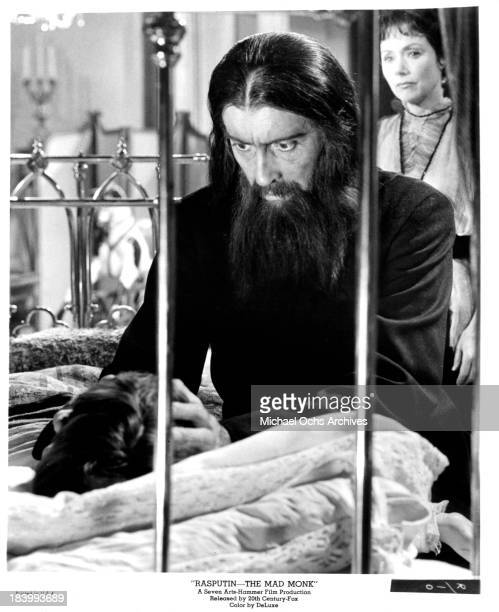 Actor Christopher Lee on set of the 20th CenturyFox movie 'Rasputin The Mad Monk' in 1966
