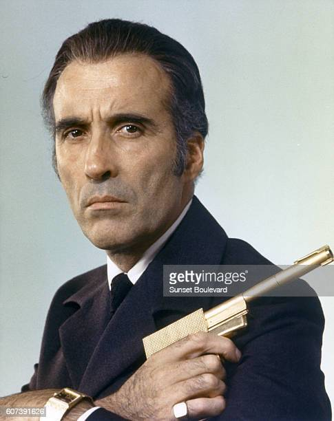 Actor Christopher Lee on the set of 'The Man With The Golden Gun'
