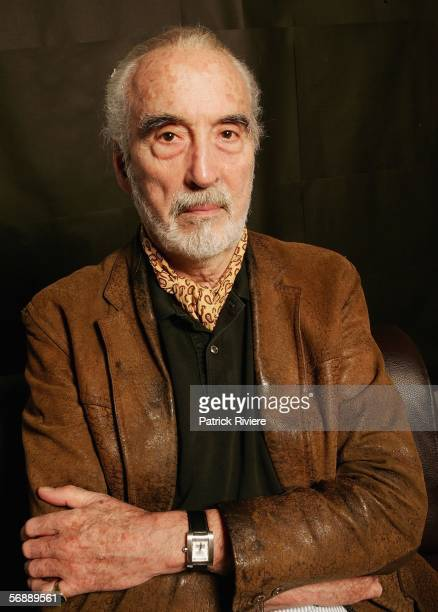 Actor Christopher Lee poses during the Bangkok International Film Festival at Siam Paragon Festival Venue on February 20 2006 in Bangkok Thailand