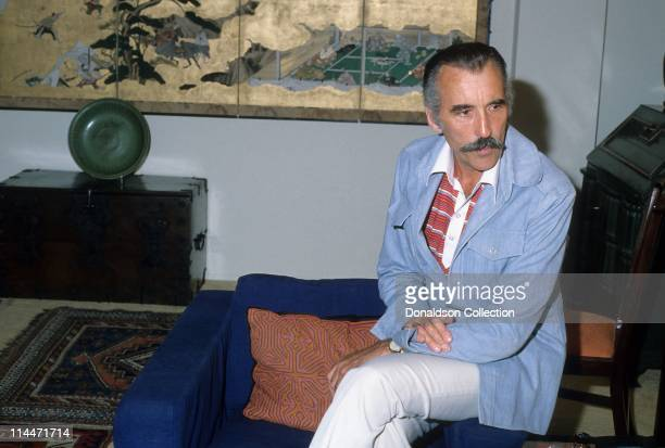 Actor Christopher Lee poses for a portrait in 1984 in Los Angeles California