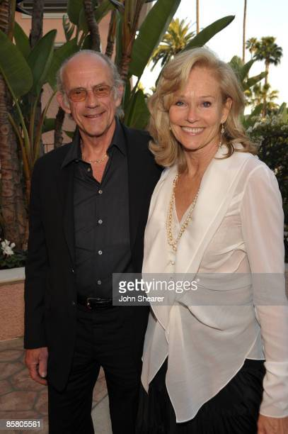 Actor Christopher Lloyd and Brenda Siemer-Scheider arrive at Smiles from the Stars: A Tribute to the Life and Work of Roy Scheider at The Beverly...