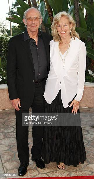 Actor Christopher Lloyd and Brenda Siemer-Scheider attend the Smiles from the Stars: A Tribute to the Life and Work of actor Roy Scheider at the...