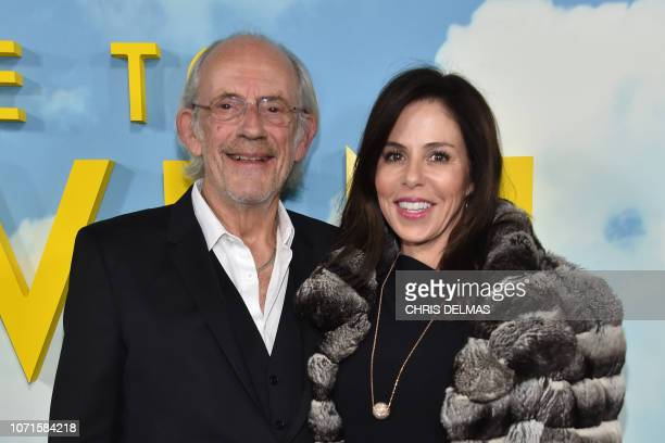 Actor Christopher Lloyd and Jane Walker Wood attend the premiere of Welcome to Marwen at the Arclight theatre in Hollywood on December 10 2018