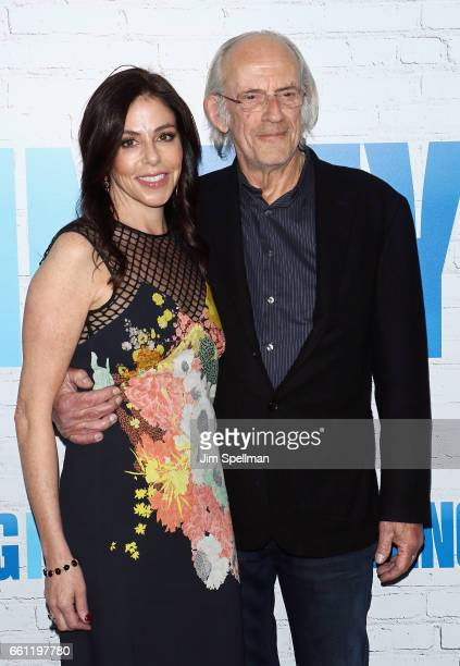 Actor Christopher Lloyd and Lisa Loiacono attend the Going In Style New York premiere at SVA Theatre on March 30 2017 in New York City