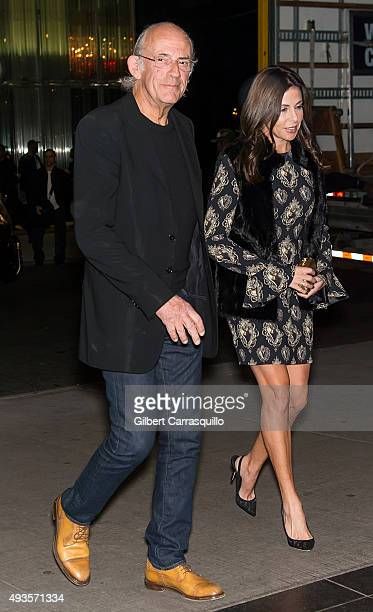 Actor Christopher Lloyd and Lisa Loiacono arrive at the 'Burnt' New York Premiere at Museum of Modern Art on October 20 2015 in New York City
