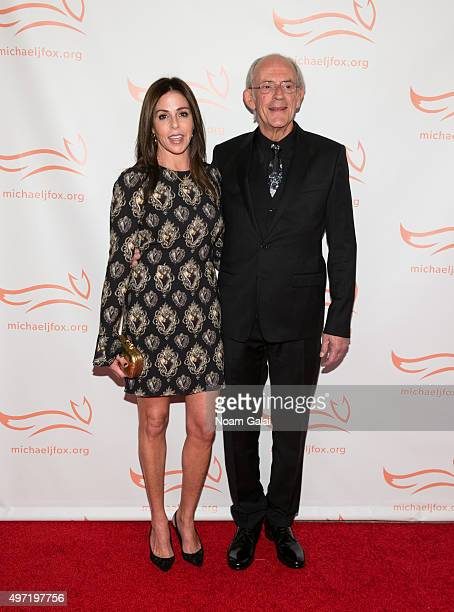 Actor Christopher Lloyd and Lisa Loiacono attend the Michael J Fox Foundation's A Funny Thing Happened On The Way To Cure Parkinson's Gala at The...