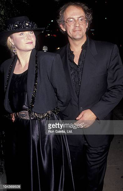 Actor Christopher Lloyd and wife Carol Vanek attend Gala Honoring Shelly Duvall on November 12 1990 at the Westwood Playhouse in Westwood California