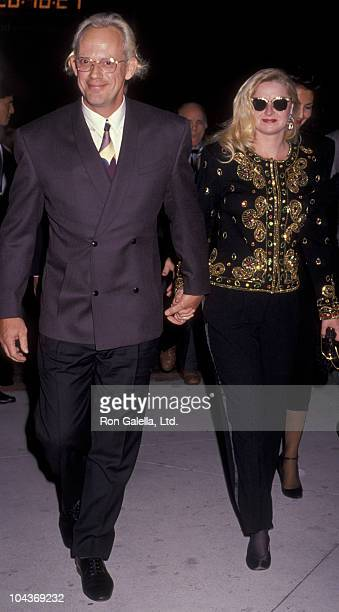 Actor Christopher Lloyd and wife Carol Vanek attend the premiere of Back To The Future Part II on November 20 1989 at the Cineplex Odeon Cinema in...