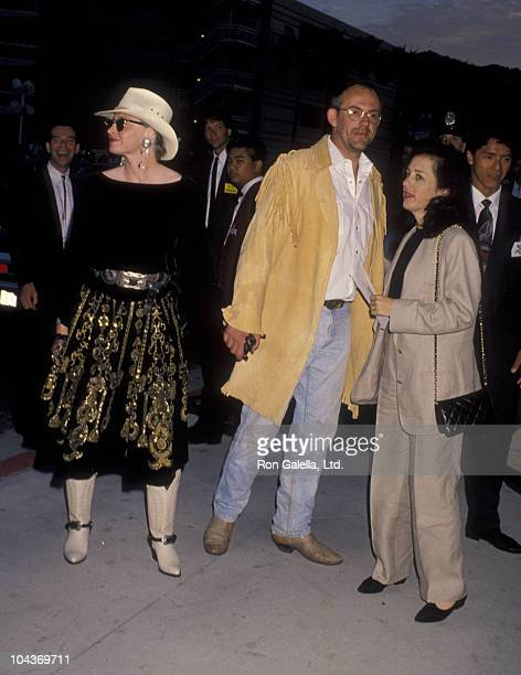 Actor Christopher Lloyd and wife Carol Vanek attend the premiere of Back To The Future Part III on May 21 1990 at the Cineplex Odeon Cinema in...