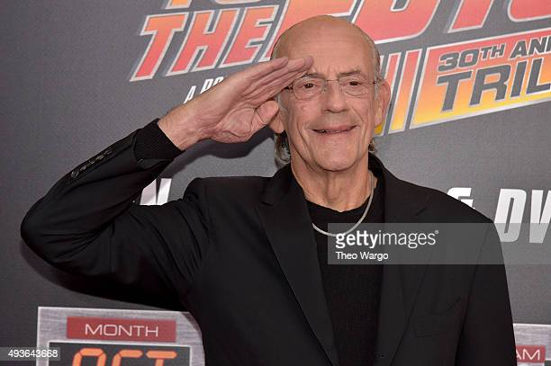 Actor Christopher Lloyd attends the Back To The Future New York special anniversary screening at AMC Loews Lincoln Square on October 21 2015 in New...