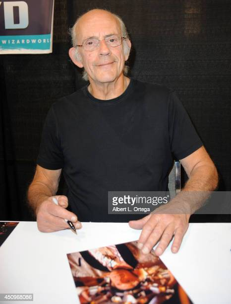 Actor Christopher Lloyd attends Wizard World Philadelphia Comic Con 2014 Day 2 held at Pennsylvania Convention Center on June 20 2014 in Philadelphia...