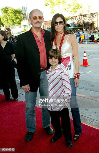 Actor Christopher Lloyd wife Jane Walker Wood and son arrive at the Star Wars Episode III Revenge Of The Sith Los Angeles Premiere at the Mann...