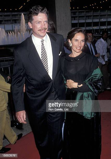 Actor Christopher McDonald and actress Andrea Marcovicci attend the Dutch Century City Premiere on July 17 1991 at Cineplex Odeon Century Plaza...