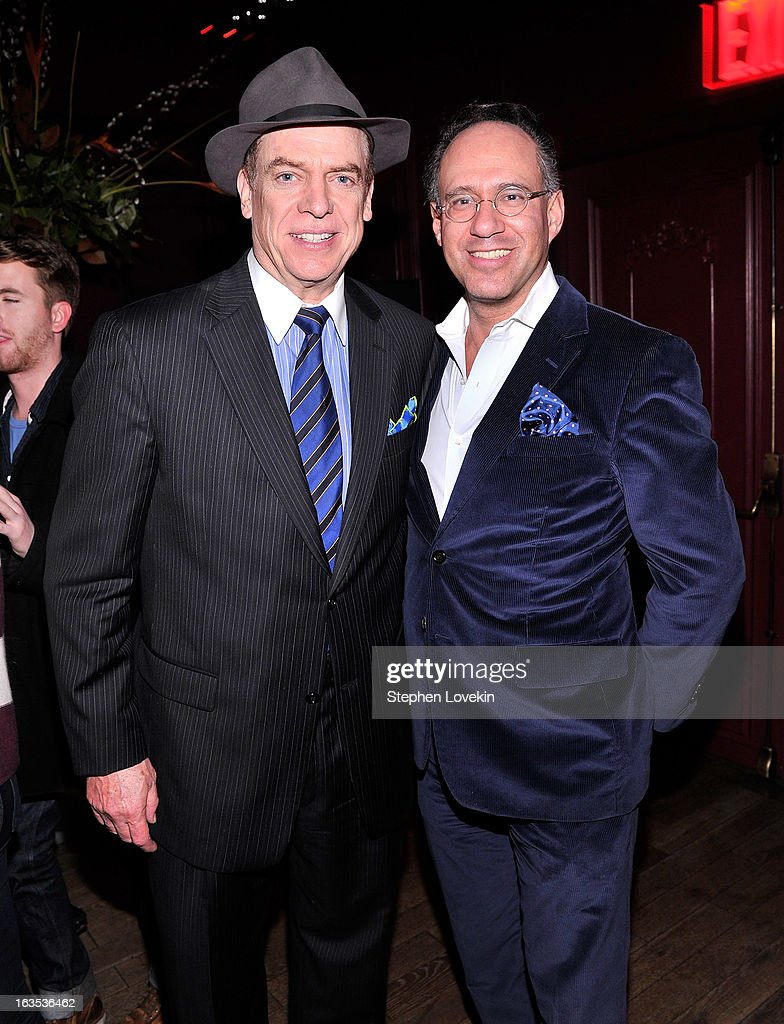 Actor Christopher McDonald and Cinema Society founder Andrew Saffir attend the after party for The Cinema Society with Roger Dubuis and Grey Goose screening of FilmDistrict's 'Olympus Has Fallen' at The Darby on March 11, 2013 in New York City.