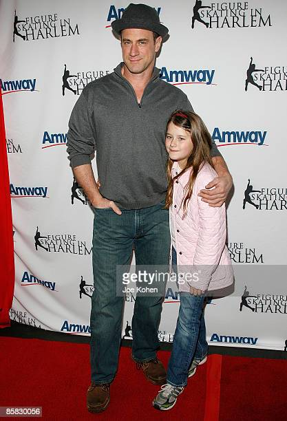 Actor Christopher Meloni and his daughter Sophia Meloni attend the 2009 Skating with the Stars at Wollman Rink in Central Park on April 6 2009 in New...