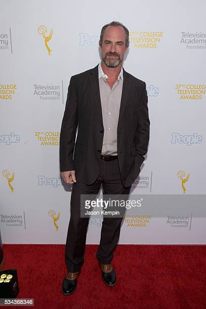 Actor Christopher Meloni attends the 37th College Television Awards at Skirball Cultural Center on May 25 2016 in Los Angeles California