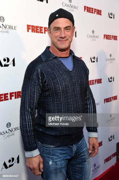 Actor Christopher Meloni attends The Los Angeles Premiere Of 'Free Fire' Presented By Casa Noble Tequila on April 13 2017 in Los Angeles California