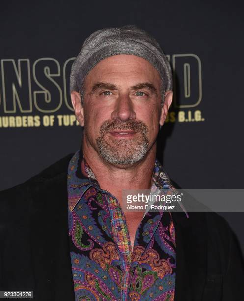 Actor Christopher Meloni attends the premiere of USA Network's Unsolved The Murders of Tupac and The Notorious BIG at Avalon on February 22 2018 in...