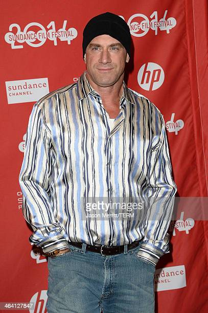 Actor Christopher Meloni attends the White Bird In A Blizzard premiere during the 2014 Sundance Film Festival at Eccles Center Theatre on January 20...