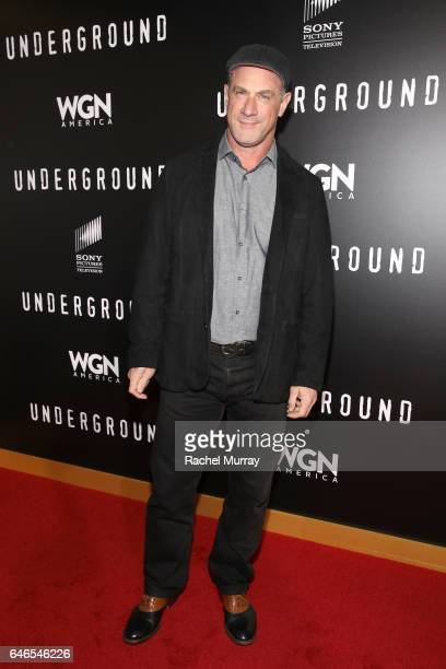 """Actor Christopher Meloni attends WGN America's """"Underground"""" Season Two Premiere Screening at Regency Village Theatre on March 1, 2017 in Westwood,..."""