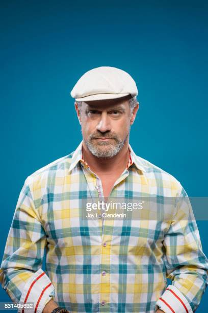 Actor Christopher Meloni from the television series Happy is photographed in the LA Times photo studio at ComicCon 2017 in San Diego CA on July 22...