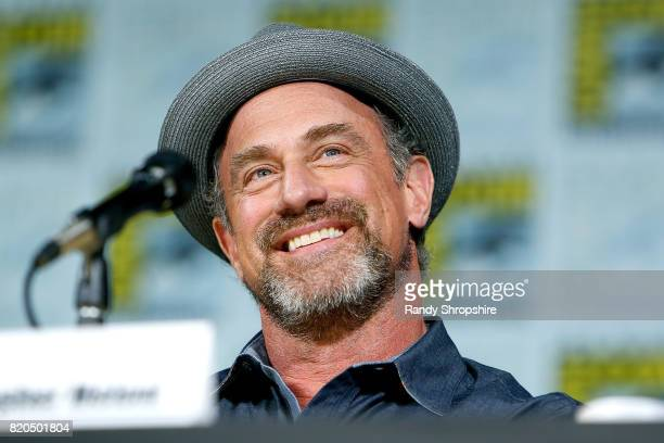 Actor Christopher Meloni speaks on stage during Entertainment Weekly's Brave New Warriors Panel at San Diego ComicCon 2017 at San Diego Convention...