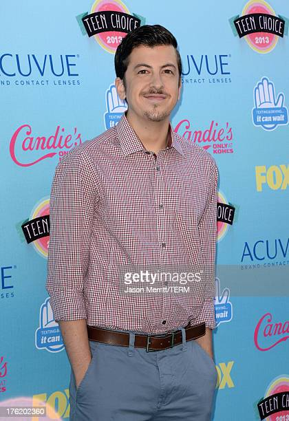 Actor Christopher MintzPlasse attends the Teen Choice Awards 2013 at Gibson Amphitheatre on August 11 2013 in Universal City California