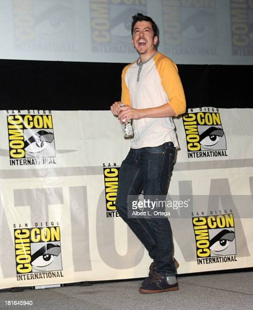 Actor Christopher MintzPlasse attends The Universal Pictures panel featuring 'Kick Ass 2' as part of ComicCon International 2013 held at San Diego...