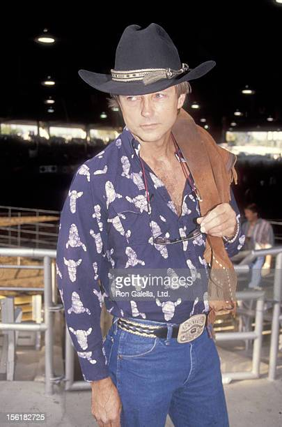 Actor Christopher Mitchum attends the Third Annual Los Angeles ProCelebrity Rodeo Weekend Extravaganza on August 3 1991 at the Los Angeles Equestrian...